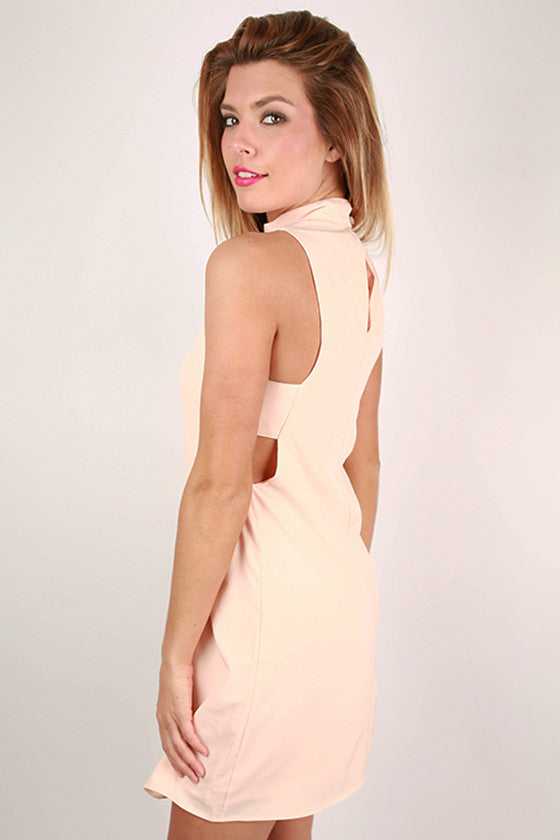 Nashville Party Dress in Peach