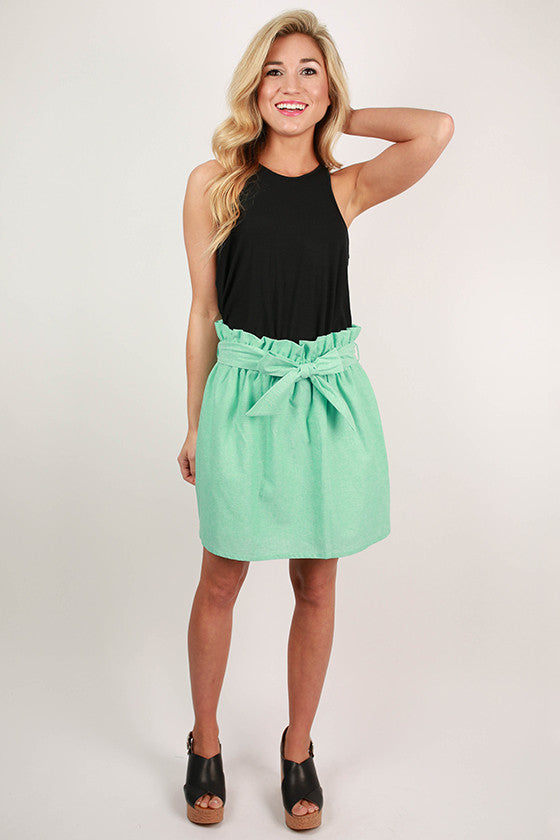 Take A Bow Skirt in Mint