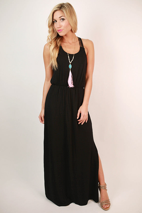 Love Is In The Air Maxi Dress in Black