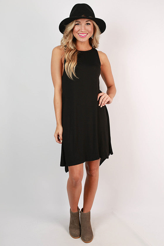 New York Style Shift Dress in Black