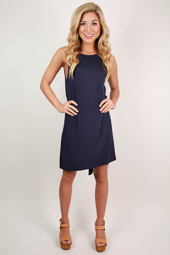 New York Style Shift Dress in Navy