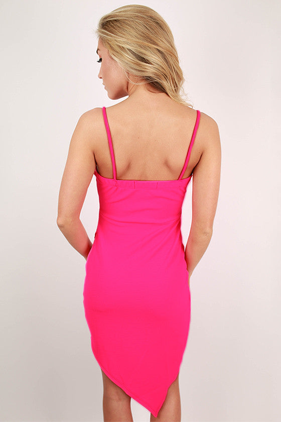 Bliss Bound Dress in Fuchsia