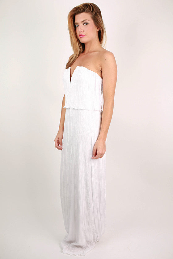 Girl's Best Friend Maxi Dress in White
