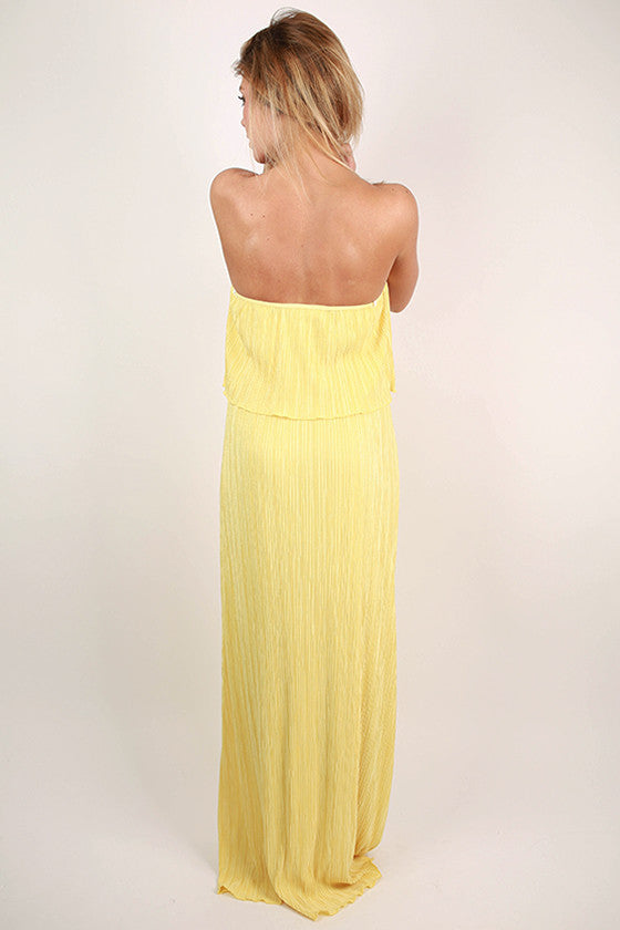 Girl's Best Friend Maxi Dress in Yellow