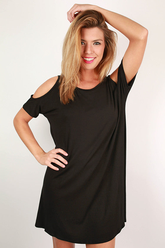Beach & Bliss T-Shirt Dress in Black