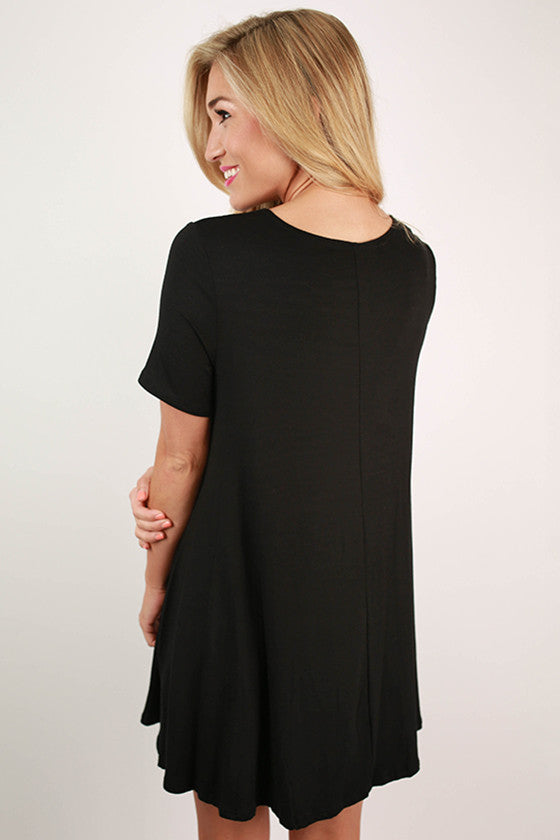 Southern Sangria Flare Dress in Black