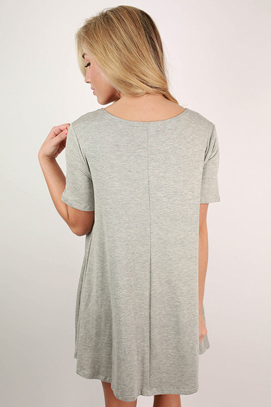 Southern Sangria Flare Dress in Grey