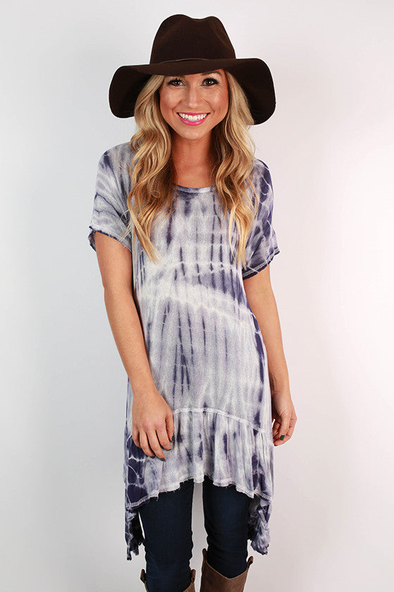 Well Traveled Tie Dye Tunic in Indigo