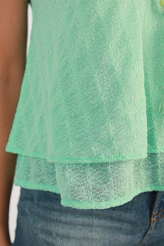 San Diego Sunshine Layered Tank Top in Mint