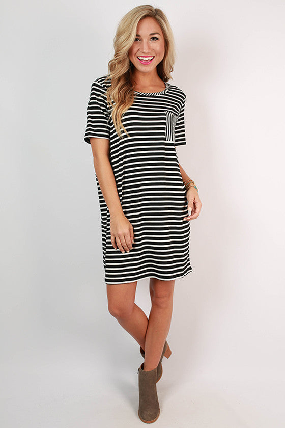 Concert Season T-shirt Dress in Black