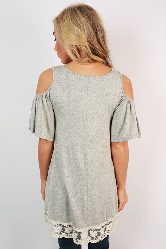 Rhythm & Ruffles Tunic in Grey