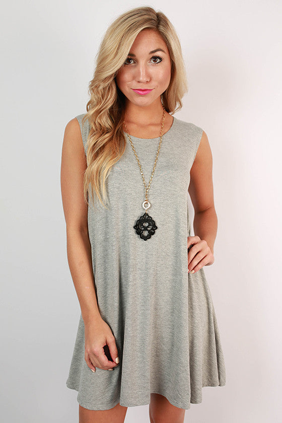 On Point Tank Dress in Grey