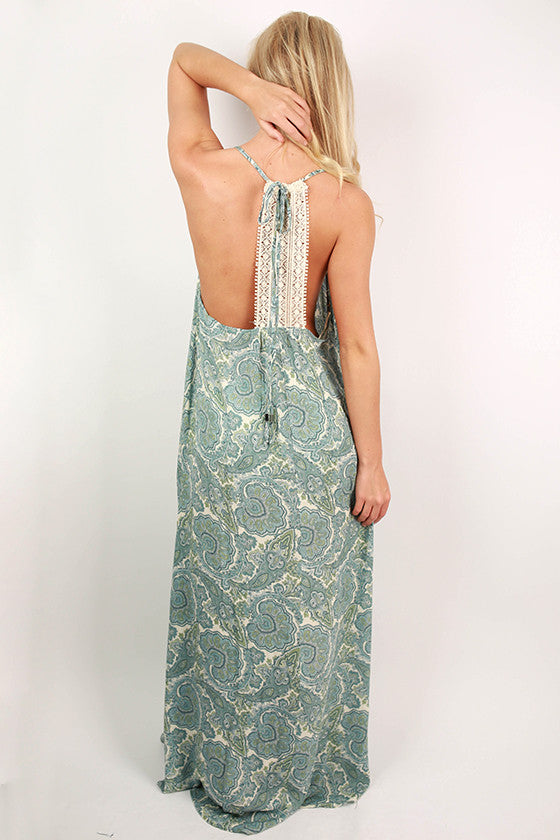 San Francisco Sunsets Maxi Dress in Blue