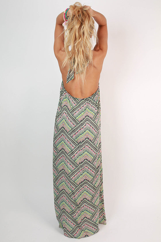 Rosemary Beach Halter Maxi Dress