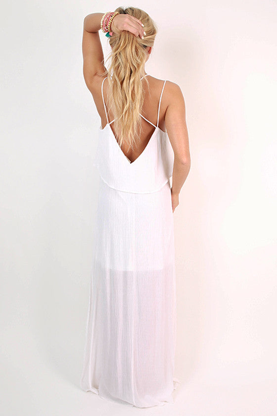 Summer in Saint Croix Maxi Dress in Ivory