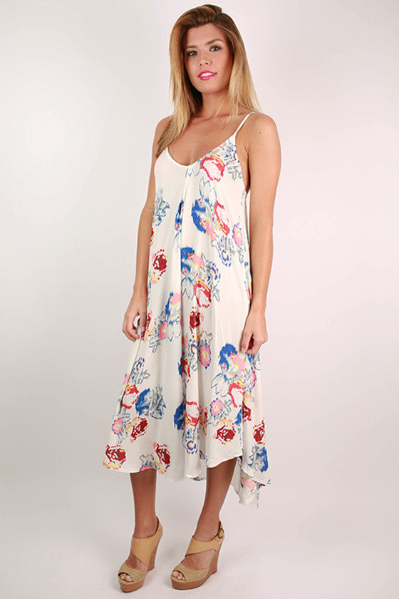 Garden Party V-Neck Trapeze Dress