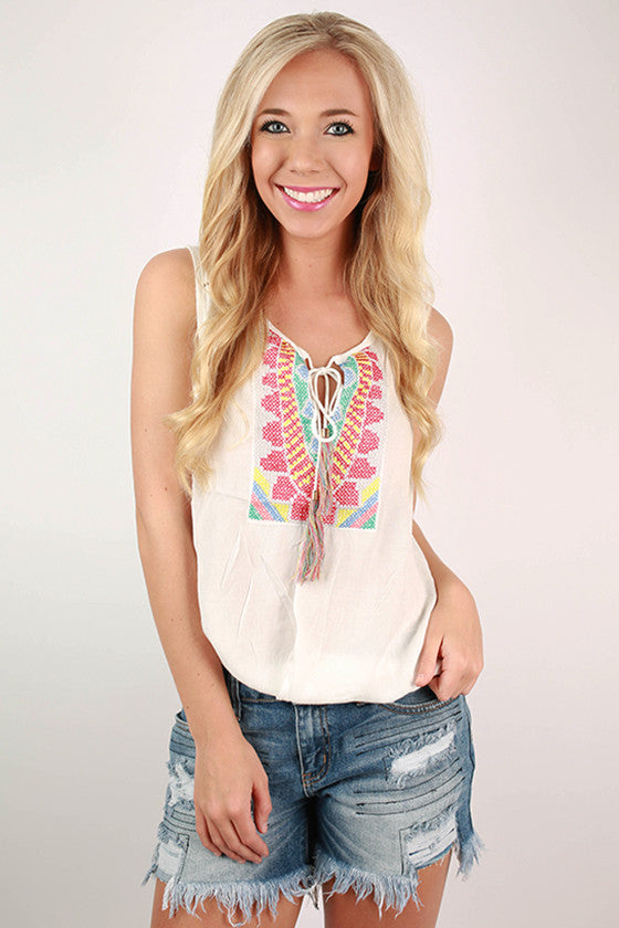Best For Brunch Drape Top in Ivory