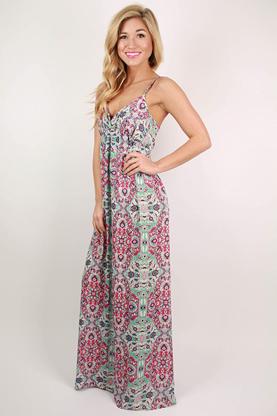 Bronzed in Tahiti Maxi Dress in Pink