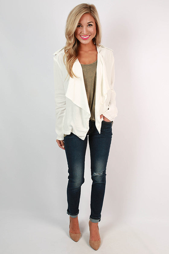 Mykonos Sunshine Blazer in White
