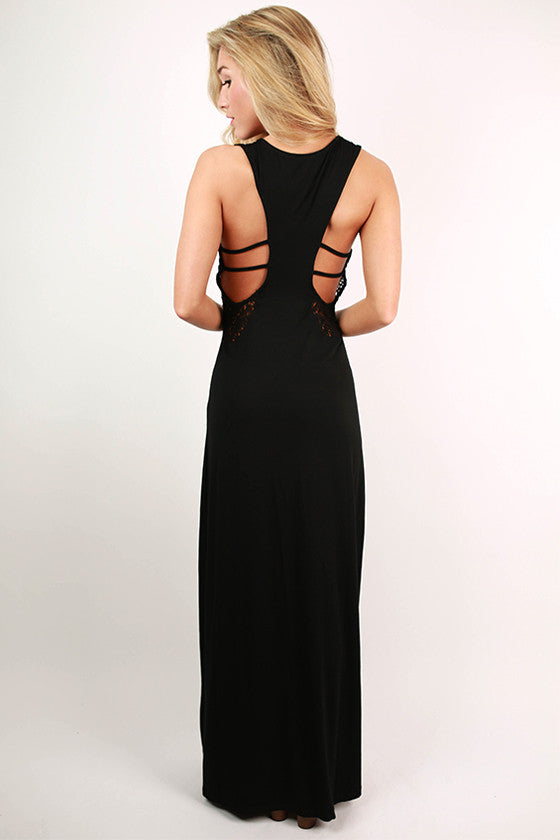 Saint Martin Suntan Maxi Dress in Black