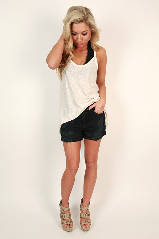 Bali Bound Tank Top in Stone