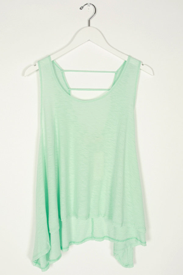 No Strings Attached Tank Top in Mint