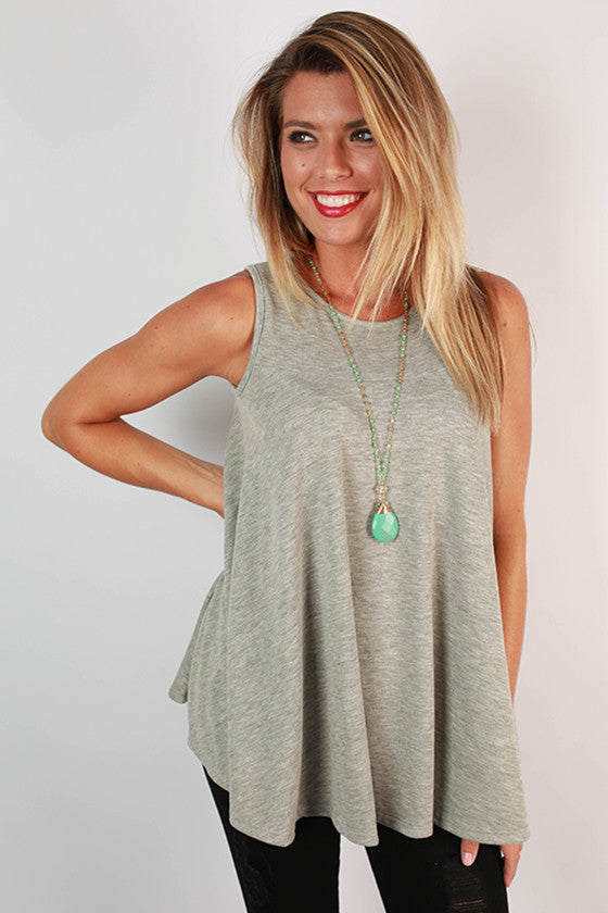 Taking It Breezy Tank in Grey