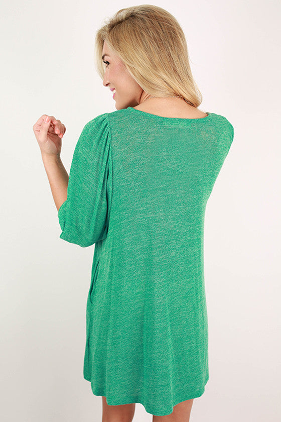 Swing in the Park Tunic in Jade