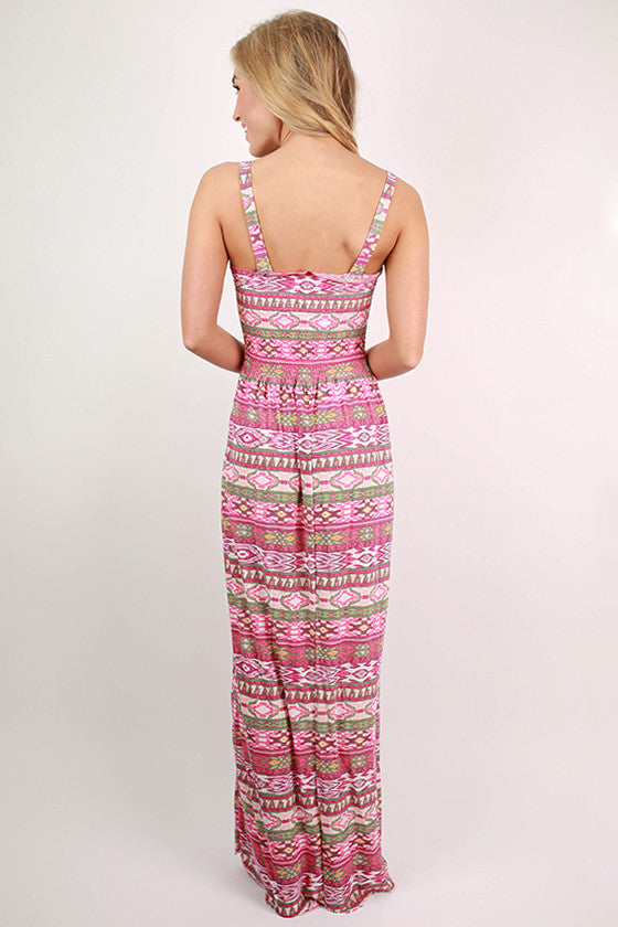 Champagne Celebration Maxi Dress in Berry