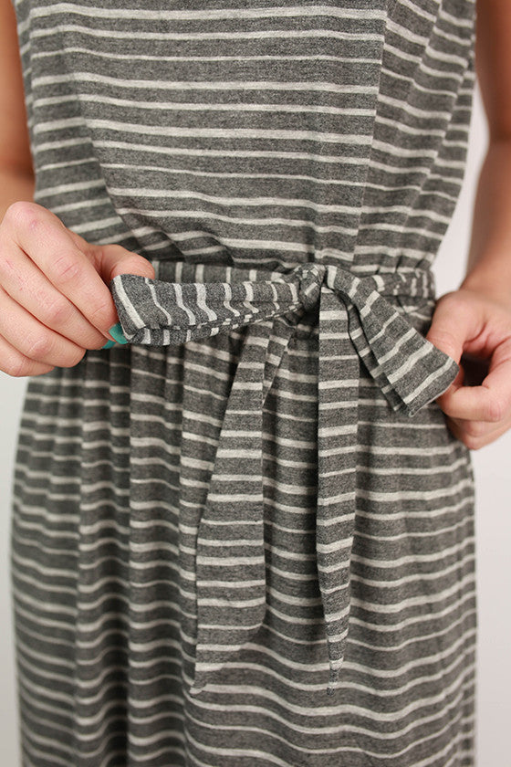 Sun Tans & Mimosas Maxi Dress in Grey