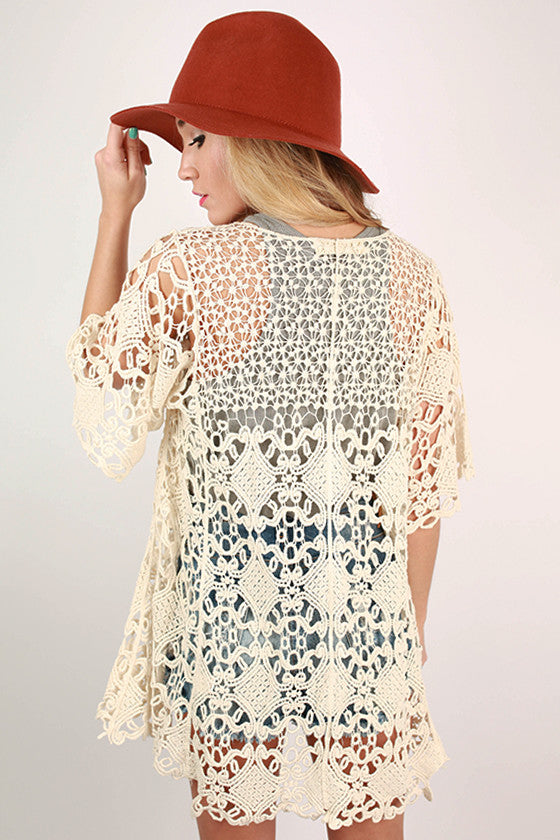 Sunkissed Crochet Overlay in Ivory