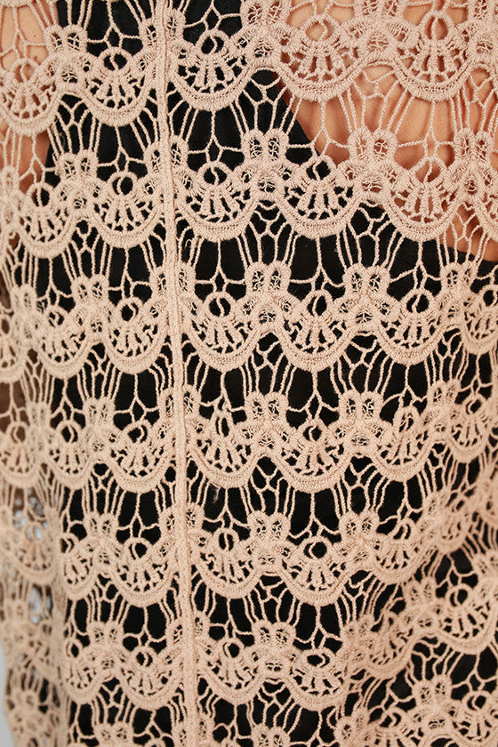 Tricks Of The Trade Crochet Overlay in Mocha