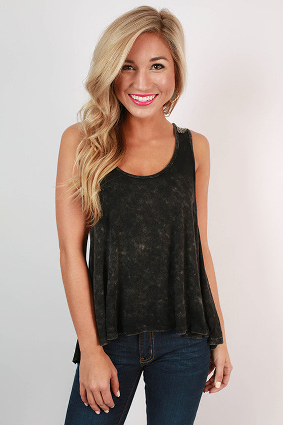 Cocktails At Sunset Swing Tank in Black