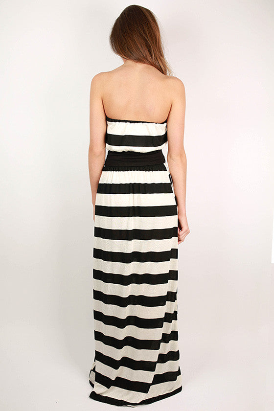 Palm Beach Stripe Maxi Dress