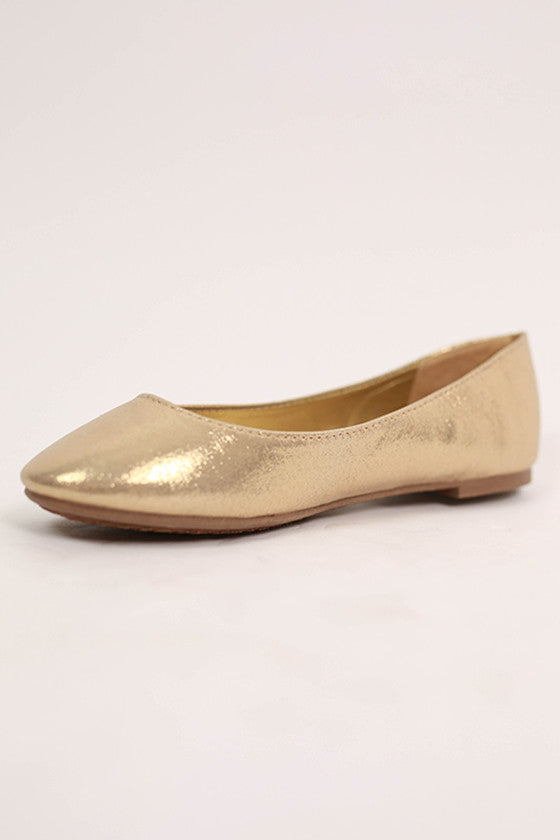 Everyday Sparkle Flat in Gold