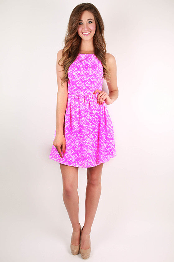 Pretty In Pink Flare Dress