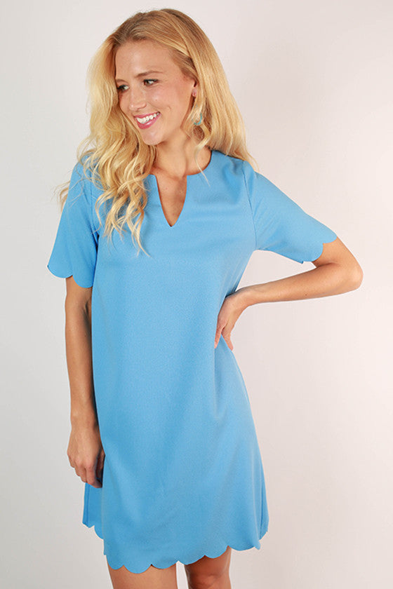 Pretty As A Tulip Shift Dress in Sky Blue