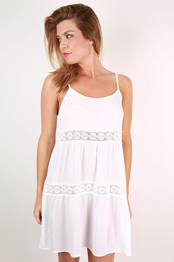 Loveliest In Crochet Dress in White