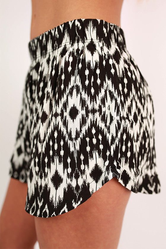 Summertime Happiness Tribal Print Shorts