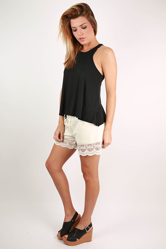 Sail Me Away Shorts in Ivory