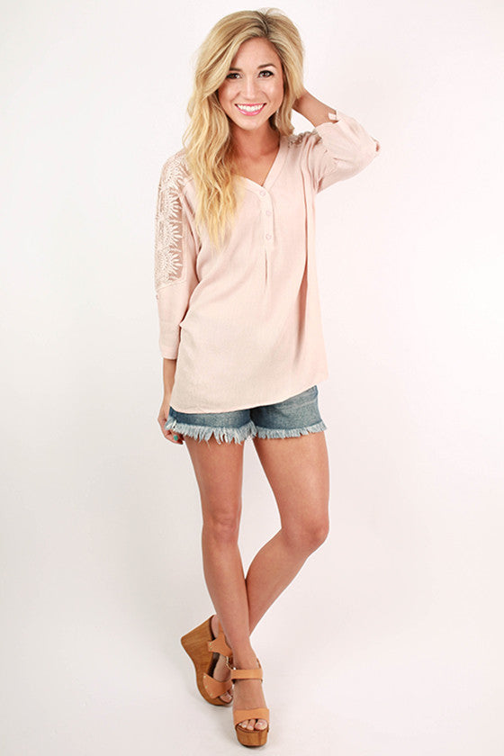 Feeling Flawless Top in Blush