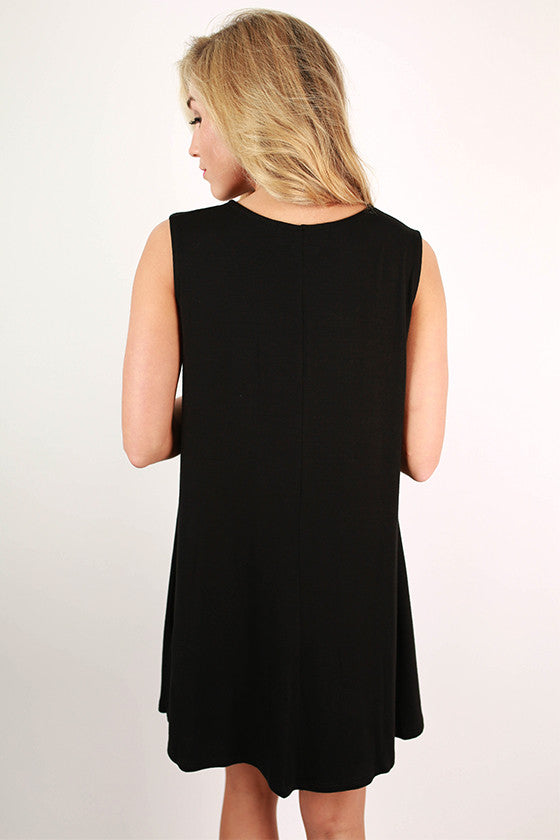 Caribbean Bliss Tank Dress in Black