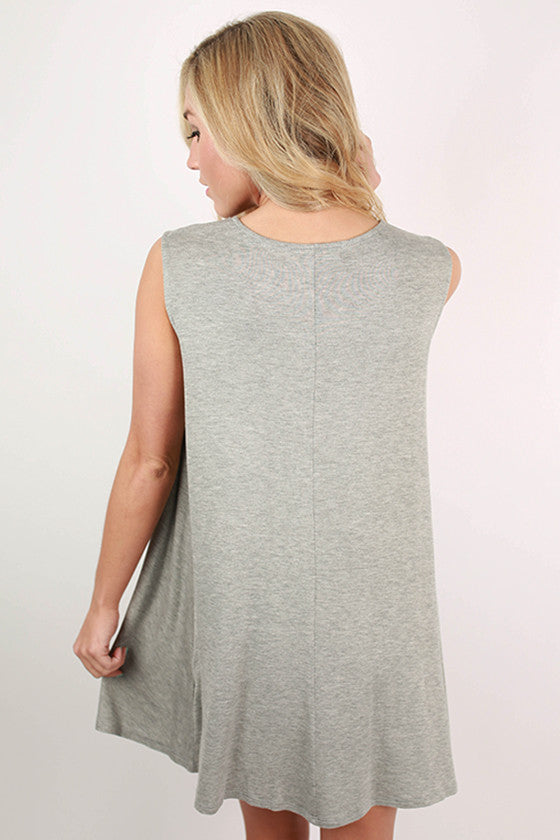Caribbean Bliss Tank Dress in Grey