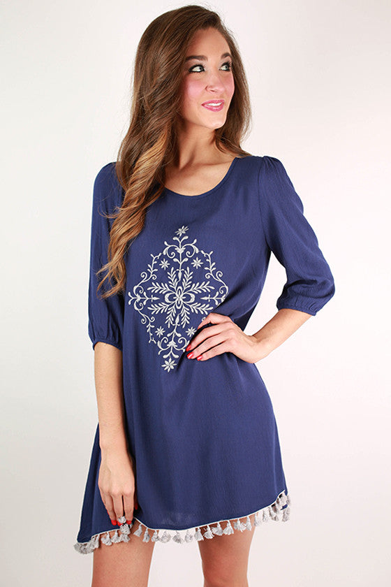 Keep It Classic Shift Dress in Navy