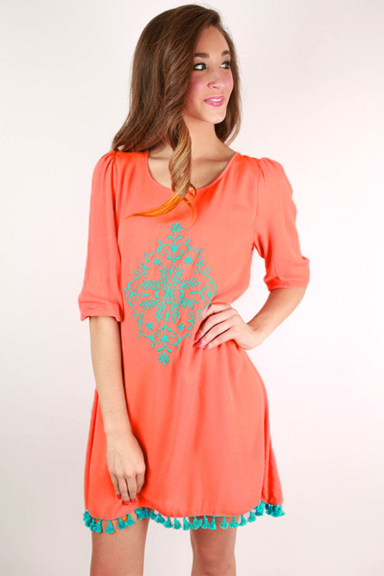 Keep It Classic Shift Dress in Peach