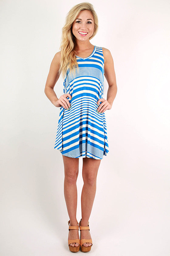 American Beauty Stripe Tunic in Blue