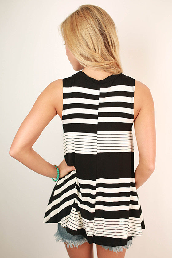 Seal & Deliver Stripe Tank in White