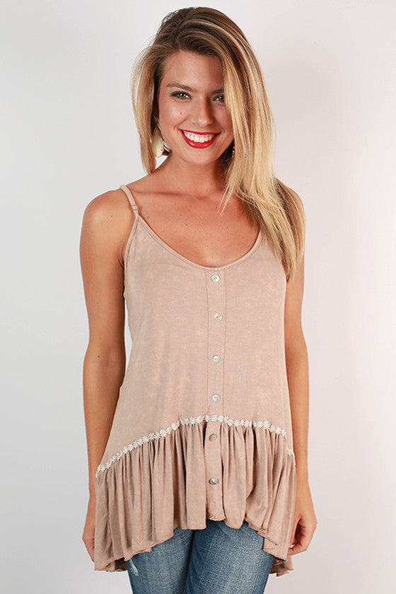 Cali Cutie Top in Taupe