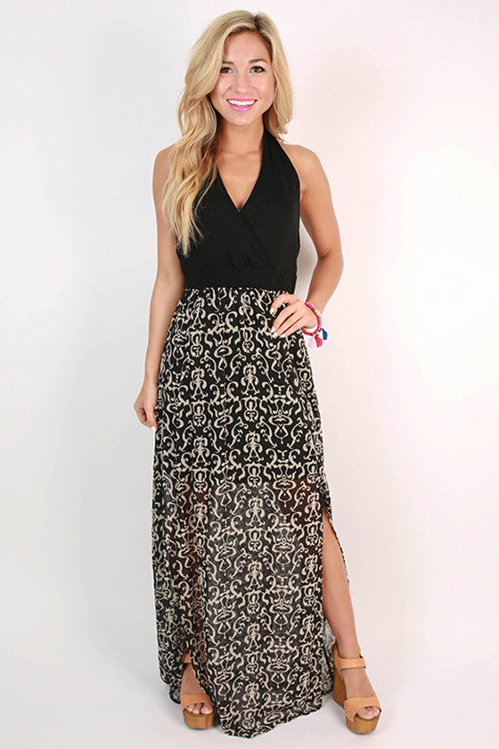 Off to the Seaside Maxi Dress