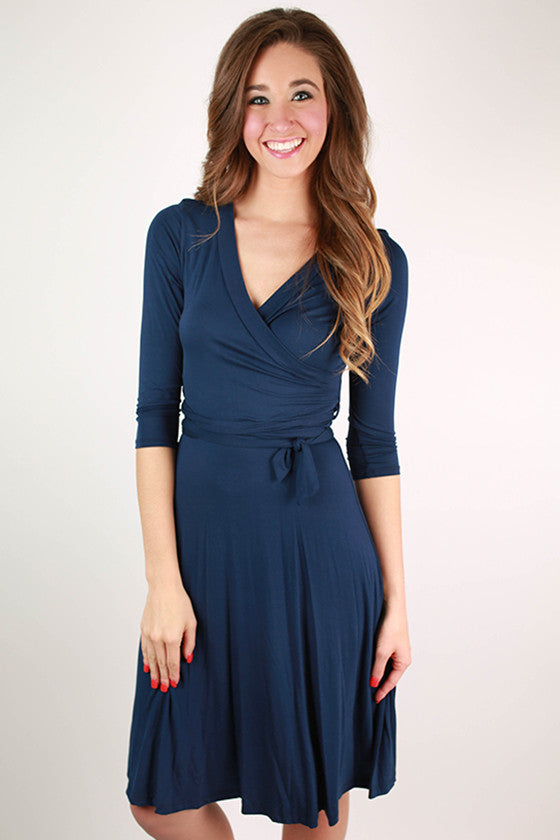 Love Of My Life Dress in Navy